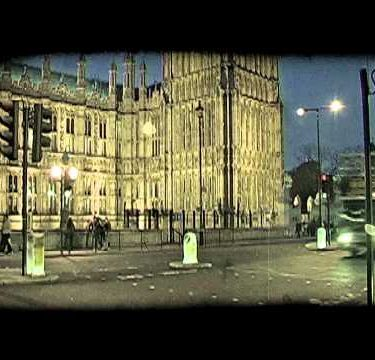 Street by Parliament 2. Vintage stylized video clip.