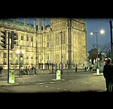 Street by Parliament 1. Vintage stylized video clip.