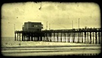 California at sunset. Vintage stylized video clip.