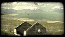 Quiet highland scene. Vintage stylized video clip.