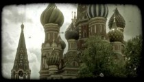 St. Basil's Cathedral 1. Vintage stylized video clip.