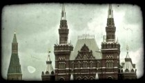 Red Square in Moscow 2. Vintage stylized video clip.