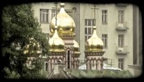 Russian cathedral 1. Vintage stylized video clip.