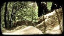 Couple Hiking 2. Vintage stylized video clip.