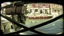 Venice Canal 8. Vintage stylized video clip.