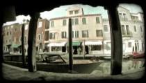 Venice Canal 6. Vintage stylized video clip.