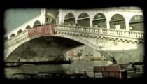 Tall Bridge 2. Vintage stylized video clip.
