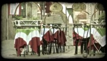 Italian Tables. Vintage stylized video clip.