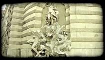 Vienna Statue 1. Vintage stylized video clip.