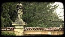 Woman Statue 3. Vintage stylized video clip.