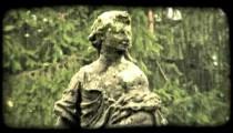 Woman Statue 2. Vintage stylized video clip.