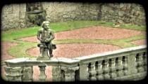 Italian Courtyard. Vintage stylized video clip.