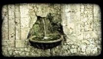 Small Fountain 1. Vintage stylized video clip.