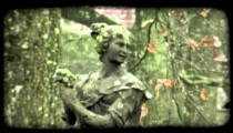 Woman Statue 1. Vintage stylized video clip.