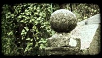 Stone rail. Vintage stylized video clip.