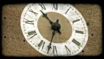 Analog Clock 5. Vintage stylized video clip.