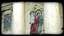 Angel painting 2. Vintage stylized video clip.
