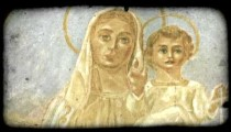 Italian Mural 2. Vintage stylized video clip.