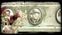 Italian Cemetery 35. Vintage stylized video clip.
