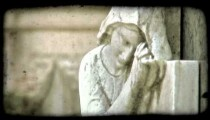 Italian Cemetery 24. Vintage stylized video clip.