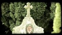 Italian Cemetery 17. Vintage stylized video clip.