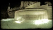 Rome Fountain 9. Vintage stylized video clip.