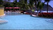 Static shot of pool at a resort.