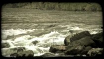 Italian River 1. Vintage stylized video clip.