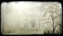 Forest Building 5. Vintage stylized video clip.