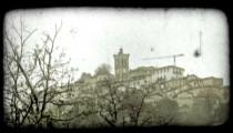 Italian Village 3. Vintage stylized video clip.