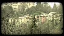 Italian Village 2. Vintage stylized video clip.