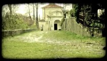 Italian Building 1. Vintage stylized video clip.
