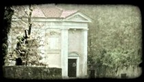 Secluded Building. Vintage stylized video clip.