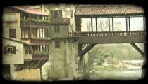 Covered Bridge 4. Vintage stylized video clip.