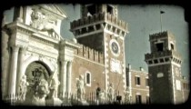 Clock Tower 2. Vintage stylized video clip.