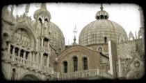 Religious Building 1. Vintage stylized video clip.