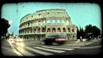 Colosseum 12. Vintage stylized video clip.