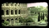 Colosseum 8. Vintage stylized video clip.