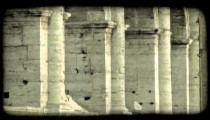 Italian Ruins 34. Vintage stylized video clip.