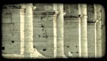 Italian Ruins 34. Vintage stylized video clip.