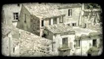 Italian Ruins 22. Vintage stylized video clip.