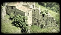 Italian Town 20. Vintage stylized video clip.
