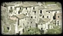 Italian Town 18. Vintage stylized video clip.