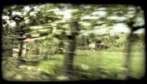 Drive-by Shot 2. Vintage stylized video clip.