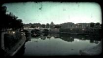 Roman Skyline 3. Vintage stylized video clip.