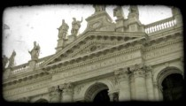 Rome Statues 3. Vintage stylized video clip.