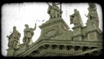 Rome Statues 1. Vintage stylized video clip.