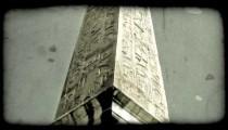 Rome Monument 1. Vintage stylized video clip.
