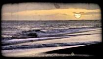Beautiful sunset 5. Vintage stylized video clip.