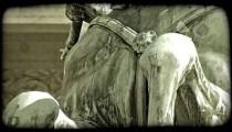 Vienna Statue 8. Vintage stylized video clip.